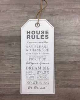 House Rules taulu SISHAN42