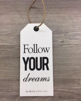 Kyltti Follow you dreams 12x26_SISHAN55